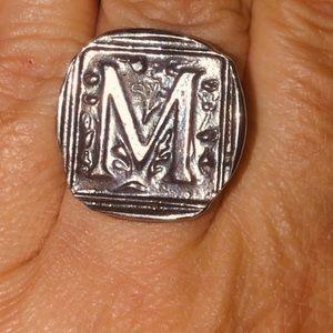 Vintage Waxing Poetic Century Insignia M .925 Ring
